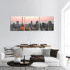 Tokyo City Skyline Panoramic Canvas Wall Art 3 Piece / Small Tiaracle