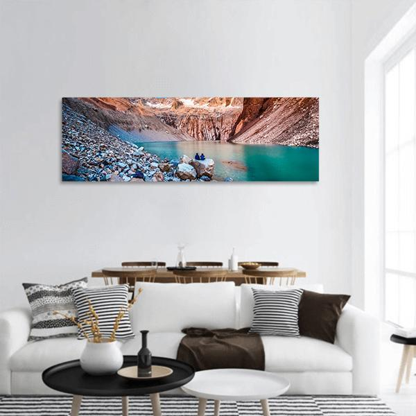 Torres del Paine National Park In Chile Panoramic Canvas Wall Art 3 Piece / Small Tiaracle