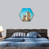 Tower Bridge In London Hexagonal Canvas Wall Art 1 Hexa / Small / Gallery Wrap Tiaracle