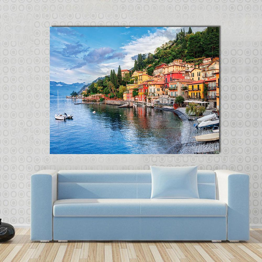Town Of Menaggio On Lake Como, Milan, Italy Canvas Panel Painting Tiaracle