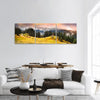 Trekking In The Fall Panoramic Canvas Wall Art 3 Piece / Small Tiaracle