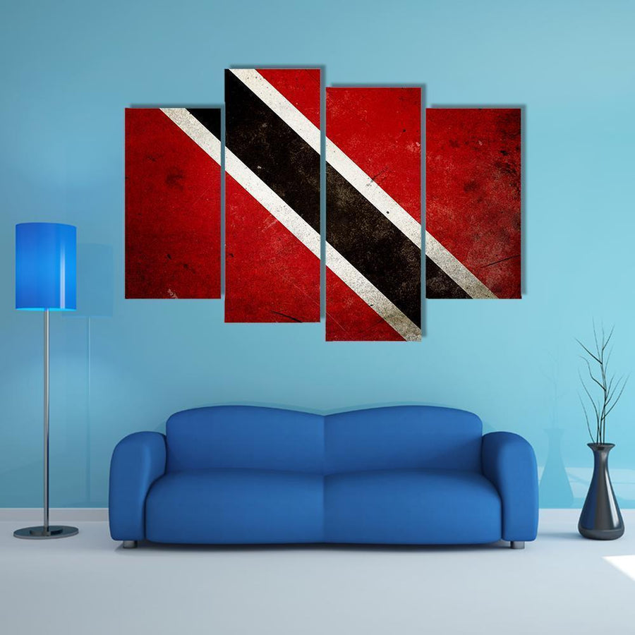 Flag Of Trinidad & Tobago Multi Panel Canvas Wall Art 5 Pieces(B) / Medium / Canvas Tiaracle
