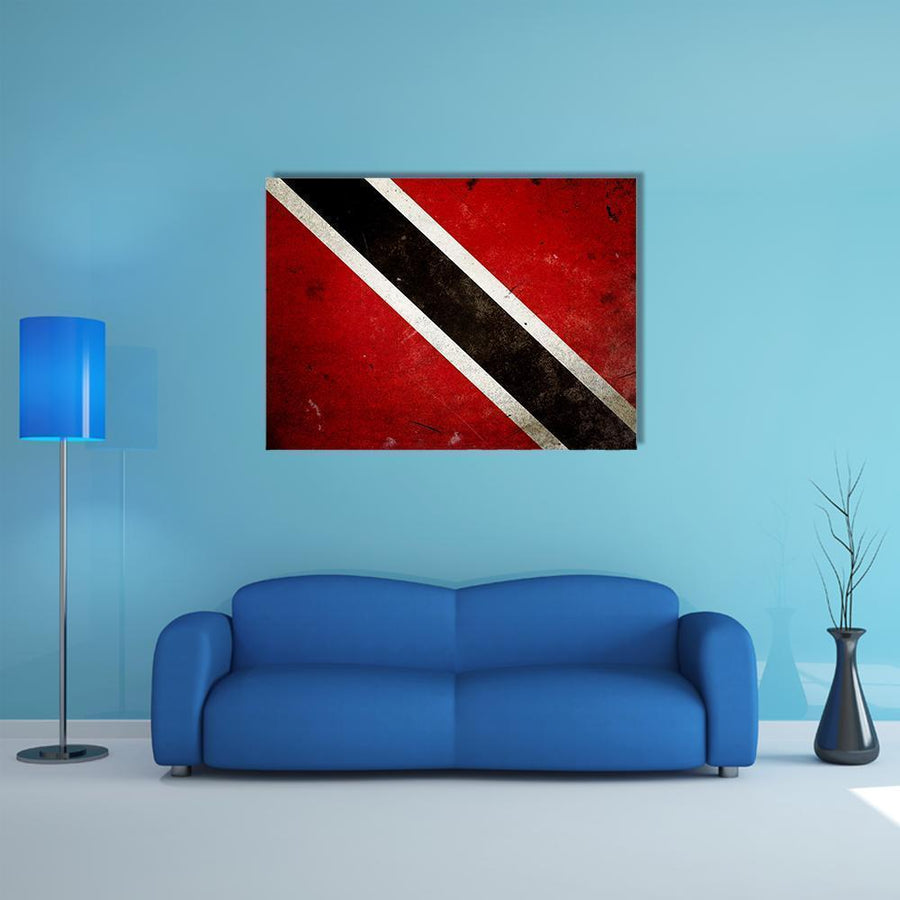 Trinidad & Tobago Flag Multi Panel Canvas Wall Art 5 Horizontal / Small / Gallery Wrap Tiaracle