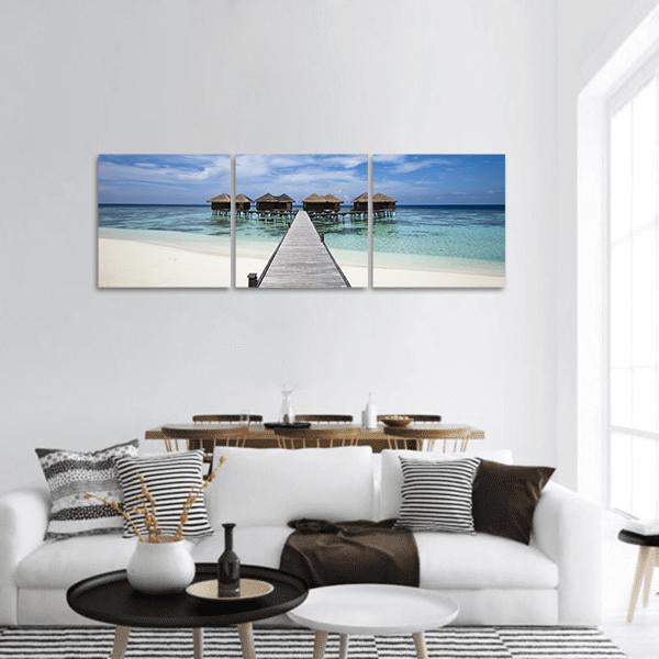 Tropical Island With White Sand Beach Panoramic Canvas Wall Art Tiaracle