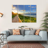 Tropical Path Near The Beach Multi Panel Canvas Wall Art 4 Horizontal / Small / Gallery Wrap Tiaracle