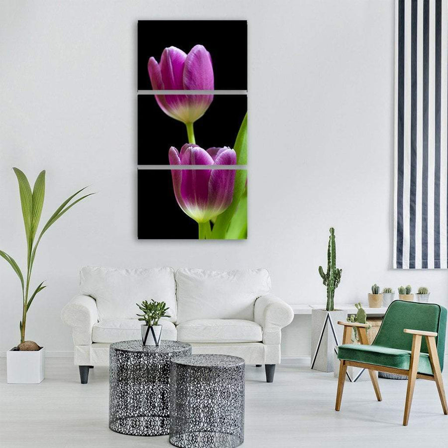 Tulip Spring Flower In Holland Vertical Canvas Wall Art 3 Vertical / Small / Gallery Wrap Tiaracle