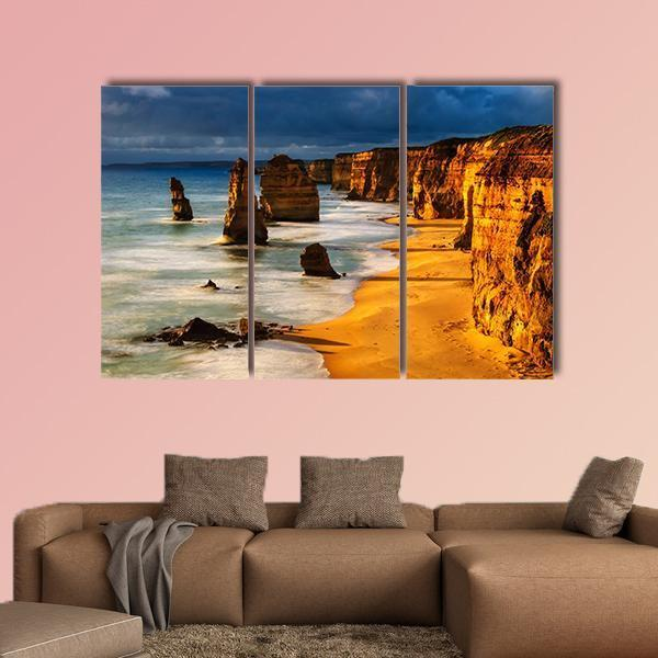 Twelve Apostles In Australia At Sunset Multi Panel Canvas Wall Art 5 Pieces(B) / Medium / Canvas Tiaracle