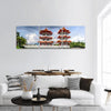 Twin Pagoda Of Singapore Panoramic Canvas Wall Art Tiaracle