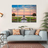 USA At Waterfront Park Canvas Wall Art-4 Horizontal-Small-Gallery Wrap-Tiaracle