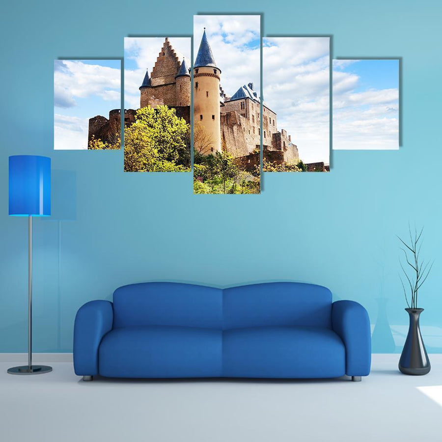 Vianden Castle Fortifications Multi Panel Canvas Wall Art 4 Pieces / Medium / Canvas Tiaracle
