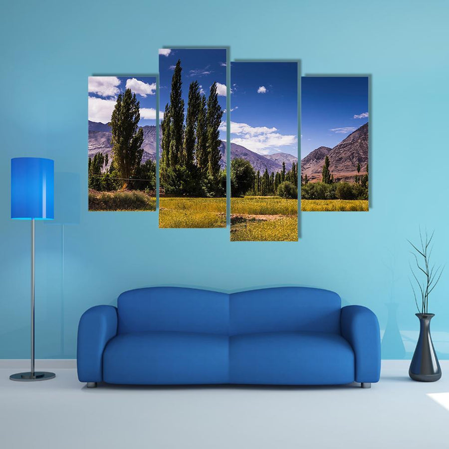 View Along The Road In Leh, Ladakh Multi Panel Canvas Wall Art 1 Piece / Medium / Canvas Tiaracle