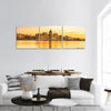 View Of Budapest Parliament At Sunset Panoramic Canvas Wall Art 3 Piece / Small Tiaracle