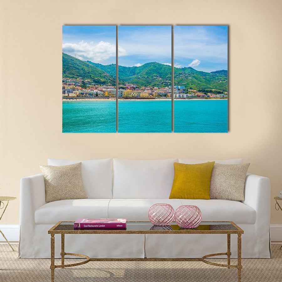 View Of Lake In Sicilian City Cefalu Multi Panel Canvas Wall Art 5 Pieces(A) / Medium / Canvas Tiaracle