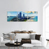 View Of Miami Beach In Florida Panoramic Canvas Wall Art 3 Piece / Small Tiaracle