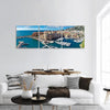 View Of Monte Carlo Harbour In Monaco Panoramic Canvas Wall Art 3 Piece / Small Tiaracle