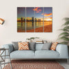 View Of Perth Skyline From Swan River Canvas Wall Art-4 Horizontal-Small-Gallery Wrap-Tiaracle