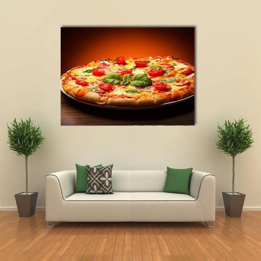 View Of Pizza Multi Panel Canvas Wall Art 5 Pieces(B) / Medium / Canvas Tiaracle