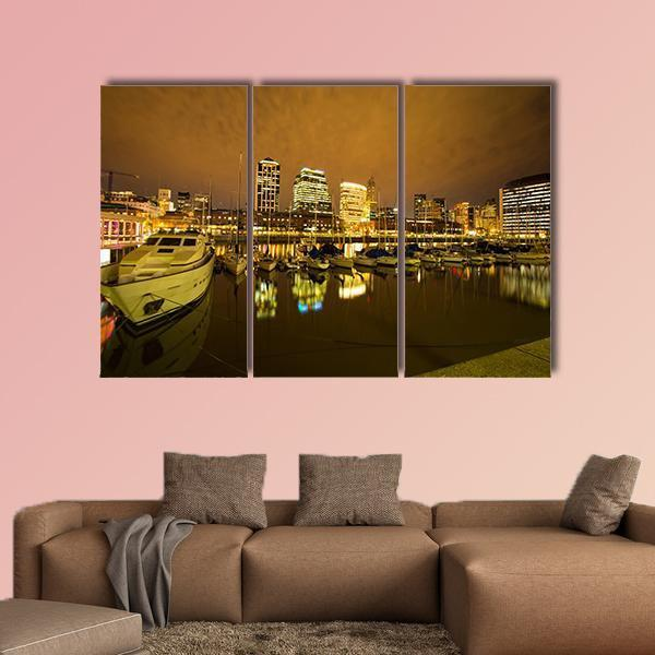 View Of Puerto Madero In Buenos Aires Multi Panel Canvas Wall Art 5 Pop / Medium / Canvas Tiaracle
