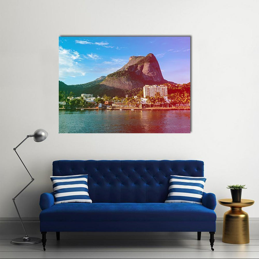 View Of The Gavea Stone Canvas Wall Art-4 Horizontal-Small-Gallery Wrap-Tiaracle