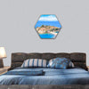 View Of The Island Resort Of St Stefan Hexagonal Canvas Wall Art 1 Hexa / Small / Gallery Wrap Tiaracle