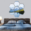 View Of The Snow Rocky Massif Hexagonal Canvas Wall Art 7 Hexa / Small / Gallery Wrap Tiaracle