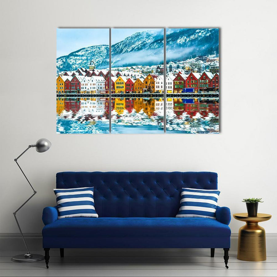 View On Bruges Bergen In Norway Multi Panel Canvas Wall Art 5 Pieces(A) / Medium / Canvas Tiaracle