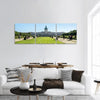 View On Charlottenburg Palace In Berlin Panoramic Canvas Wall Art 3 Piece / Small Tiaracle