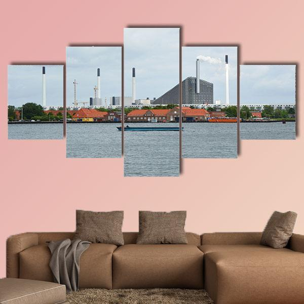 View On The Incinerator Of Copenhagen Multi Panel Canvas Wall Art 3 Pieces / Small / Canvas Tiaracle