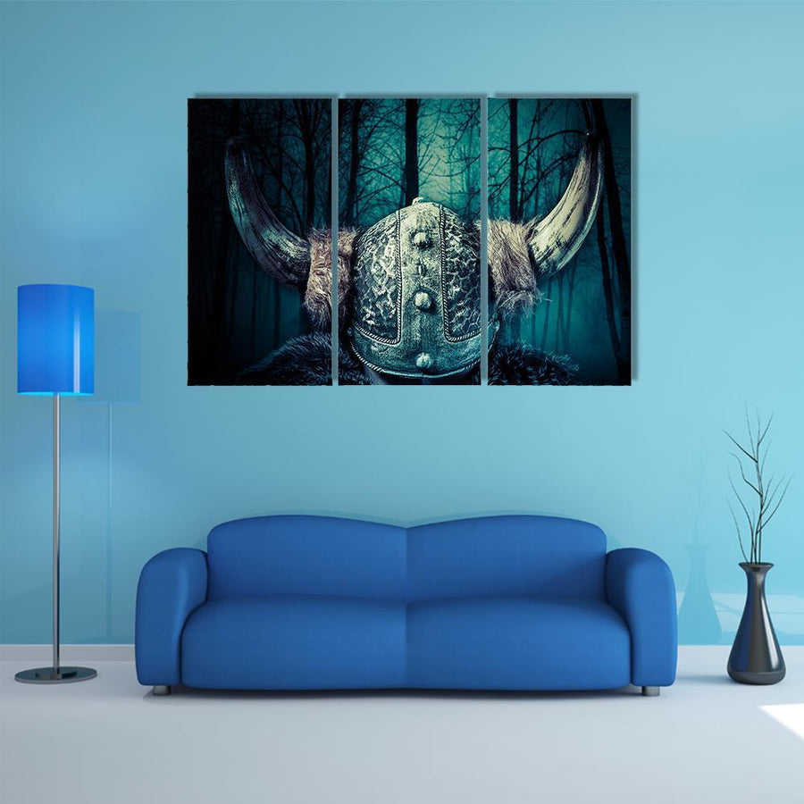Viking Warrior In Helmet Multi Panel Canvas Wall Art 5 Pieces(A) / Medium / Canvas Tiaracle