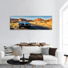 Vintage Car Through Desert Panoramic Canvas Wall Art 1 Piece / Small Tiaracle