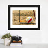 Volleyball On Beach Canvas Wall Art-Tiaracle