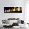 Walls Of Avila In Spain At Night Panoramic Canvas Wall Art 1 Piece / Small Tiaracle