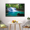Waterfall In Kanchanaburi Multi Panel Canvas Wall Art-Tiaracle