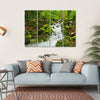 Waterfall In Slovakia Canvas Wall Art-4 Horizontal-Small-Gallery Wrap-Tiaracle