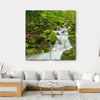 Waterfall In Slovakia Canvas Wall Art-4 Square-Small-Gallery Wrap-Tiaracle