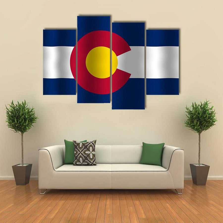Waving Colorado State Flag Multi Panel Canvas Wall Art 3 Pieces / Medium / Canvas Tiaracle