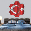 Waving Turkish Flag Hexagonal Canvas Wall Art 7 Hexa / Small / Gallery Wrap Tiaracle