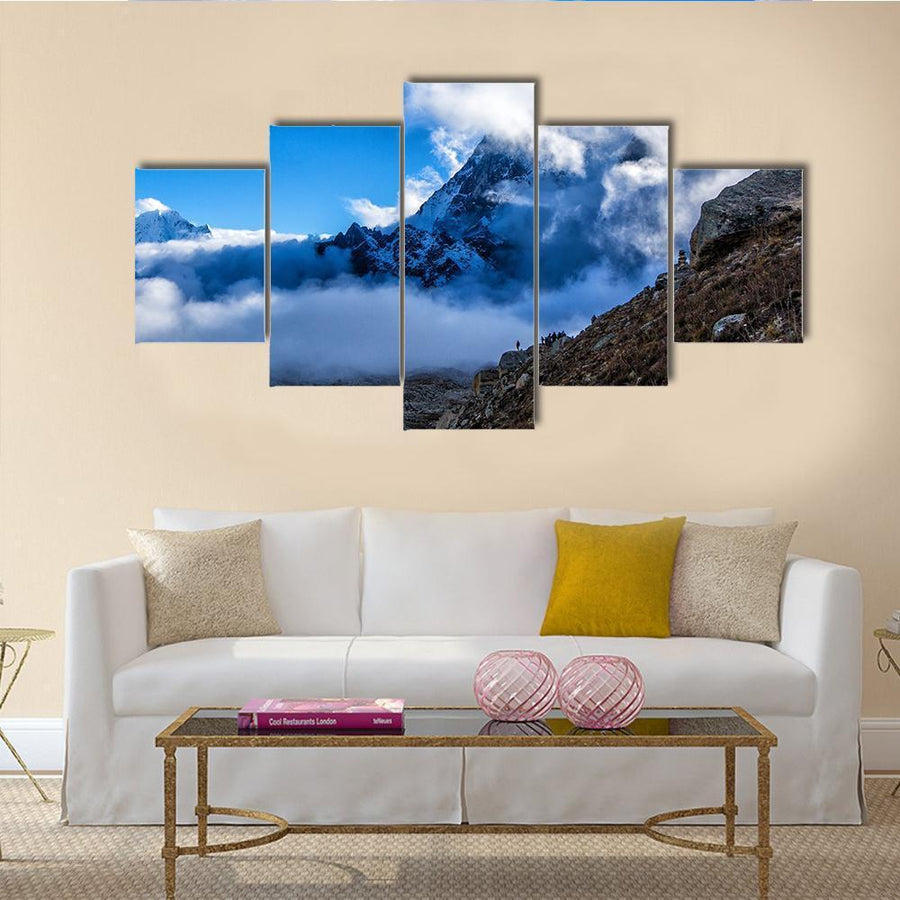 Way To Everest Base Camp Multi Panel Canvas Wall Art 3 Pieces / Medium / Canvas Tiaracle
