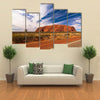 Cloudy Sky Over Ayers Rock In Australia Multi Panel Canvas Wall Art Tiaracle