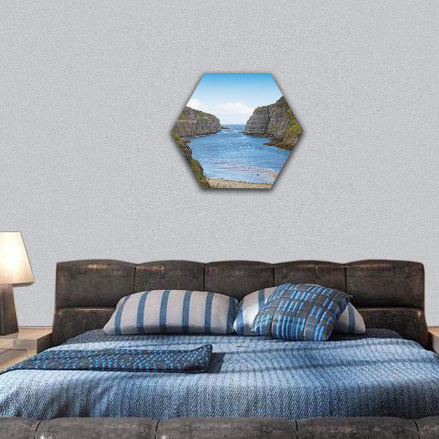 Wide River Mouth Hexagonal Canvas Wall Art 7 Hexa / Small / Gallery Wrap Tiaracle