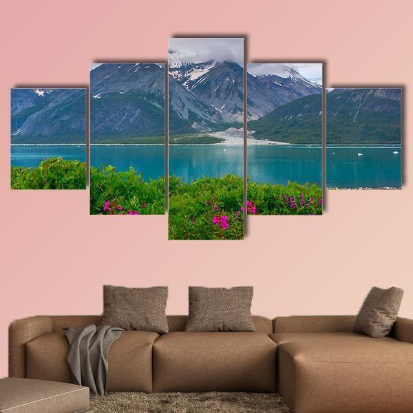Wild Flowers In Glacier Bay National Park Alaska Multi Panel Canvas Wall Art 3 Pieces / Medium / Canvas Tiaracle