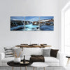 Winter Day At Bruarfoss Panoramic Canvas Wall Art 3 Piece / Small Tiaracle