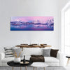 Winter Lake In Norway Panoramic Canvas Wall Art 1 Piece / Small Tiaracle