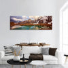 Winter Mountain Lake In Switzerland Panoramic Canvas Wall Art 1 Piece / Small Tiaracle
