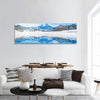Winter Scenery In Swiss Alps Panoramic Canvas Wall Art Tiaracle