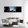 Wolf Dog At Dusk Panoramic Canvas Wall Art Tiaracle