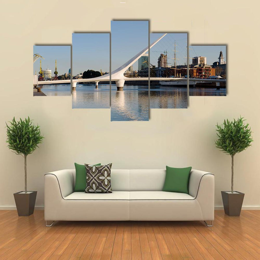 Women´s Bridge In Puerto Madero Canvas Panel Painting Tiaracle