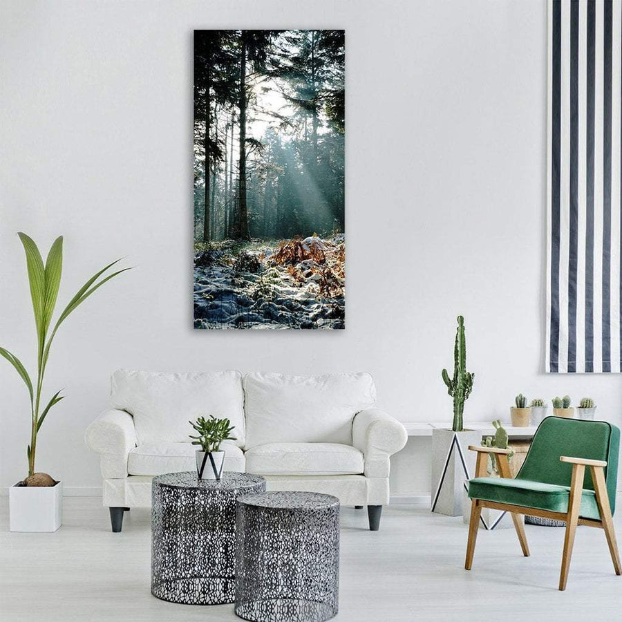 Wood Tree Landscape Vertical Canvas Wall Art 3 Vertical / Small / Gallery Wrap Tiaracle