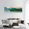 World Famous Bonzai Pipeline Surf Wave In Hawaii Panoramic Canvas Wall Art 1 Piece / Small Tiaracle
