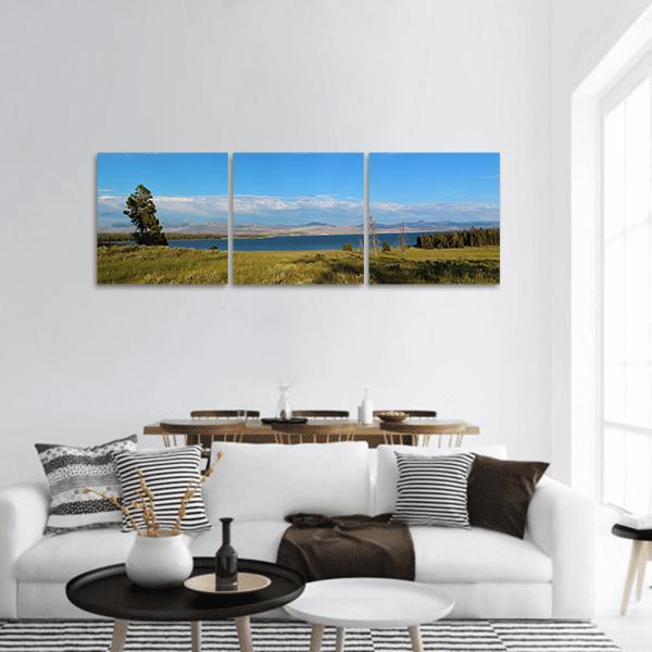 Yellowstone Lake In USA Panoramic Canvas Wall Art 1 Piece / Small Tiaracle